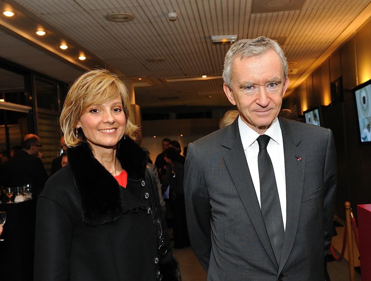 Bernard Arnault and his wife