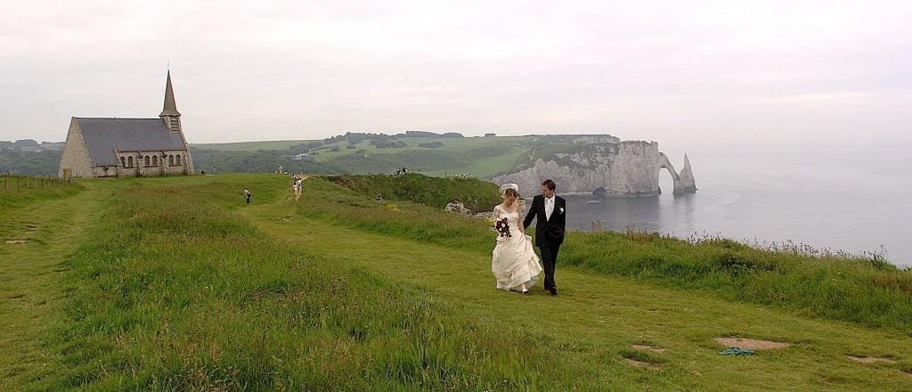 Romantic wedding France, Étretat